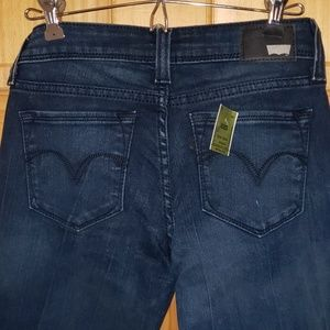 Levi's Low-rise Skinny Dark Denim Jeans Demi Curve